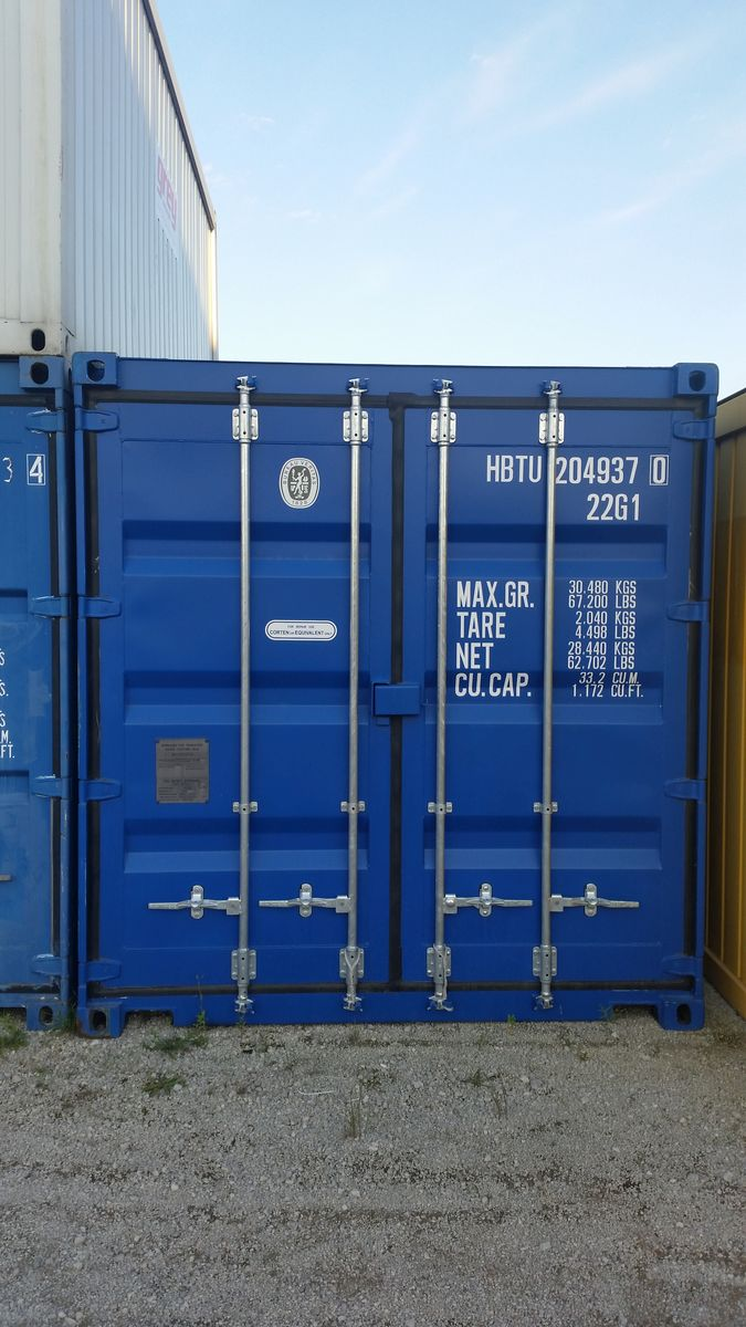 Seecontainer 20 NEU Blau