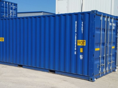 Seecontainer 20' double door NEU Blau oder Grau